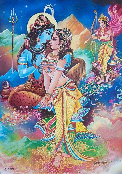 Индийские божества любви секса изображение